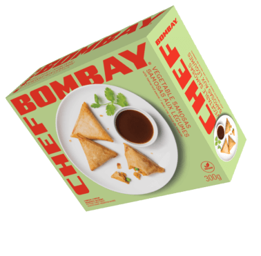 Vegetable Samosas product box.